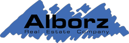 Alborz Real Estate Company Blue Logo